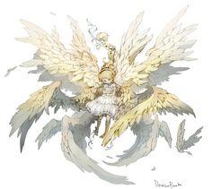 """Angel Girl"" original illustration by Posuka Demizu"