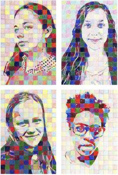 The Rolling Artroom: self-portraits Chuck Close Art, Chuck Close Portraits, 7th Grade Art, Middle School Art Projects, Scratch Art, Collage, Art Curriculum, Virtual Art, Masks Art