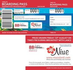 Radio Promotion, give away a trip to Niue.