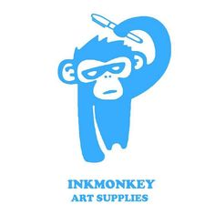 This is the current InkMonkey logo, it is a simple monkey image with the name written below. It is effective but lacks originality and could be improved upon.