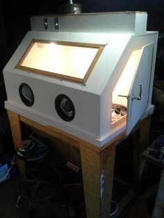 My 3'x5' blast cabinet made of wood. - The Garage Journal Board