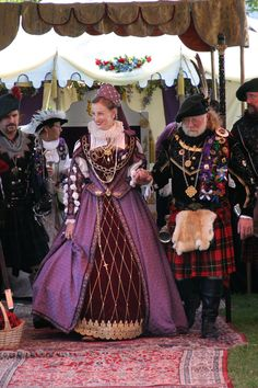 Image of an actress playing Mary Queen of Scots at a Scottish Faire. Photo: David Ball