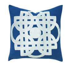 Traci Zeller Maze pillow in navy