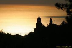 Coucher de soleil sur Moneglia - Ligurie - Italie