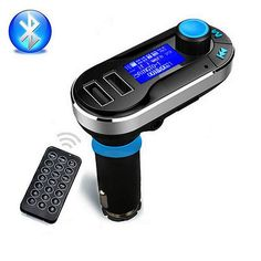 [Visit to Buy] Wireless Handsfree Bluetooth Car Kit FM Transmitter MP3 Player With Dual 2.1A USB Charger,Support USB/SD card/Aux input/U disk #Advertisement