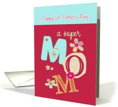 happy first mother's day, bright letters