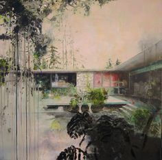 """Dreamed Bungalo,"" painting by artist Carola Shapals. Go inside her studio: http://magazine.saatchiart.com/articles/artnews/saatchi-art-news/inside-the-studio-saatchi-art-news/carola-schapals"