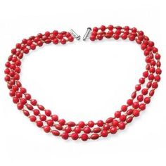 Gold Plated Multi-Strand Coral Necklace -- gorgeous, natural and perfect for summer!