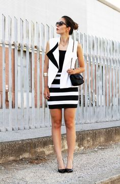 Vestito righe bianco e nero on sons