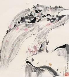 Wu Guanzhong(吴冠中 Chinese, 1919-2010) 吕梁印象 镜心 1986