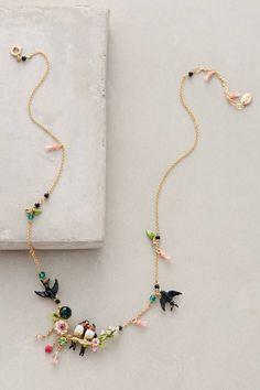 Lovebird Wreath Necklace by Les Nereides