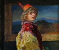 The Lute Player - Leon Wyczółkowski Realism Art, Turban, Impressionism, Art Nouveau, Palette, Cap, Paintings, Fabric, Poland