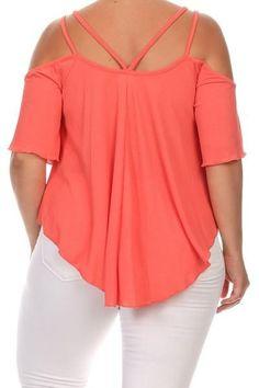 Cold Shoulder Ruffle Sleeve Plus Size Top Plus Size Summer Tops, Plus Size Tops, Plus Size Dresses, Plus Size Outfits, Plus Size Fashion, Curvy Fashion, Apple Shape Fashion, Plus Sise, Curvy Girl Outfits