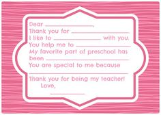 Thank You Notes For Teacher Messages And Quotes  Appreciation