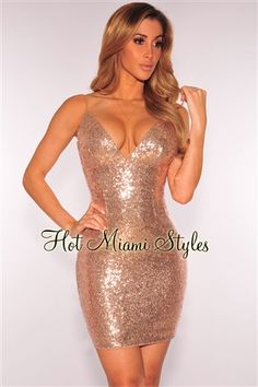 Champagne Sequins Spaghetti Strap Open Back Dress Womens clothing clothes hot miami styles hotmiamistyles hotmiamistyles.com sexy club wear evening  clubwear cocktail party kim kardashian dresses