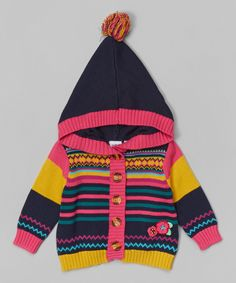 Look at this Total Eclipse Stripe Hooded Cardigan - Infant on #zulily today!
