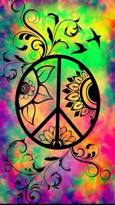 ☮ american hippie psychedelic art peace sign art in 2019 kleuren, vrede, le Hippie Peace, Hippie Love, Hippie Chick, Hippie Things, Hippie Vibes, Peace Love Happiness, Peace And Love, Painting & Drawing, Peace Sign Art