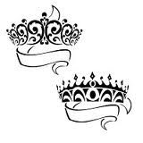 crown tattoos with the kids names. Since I have a girl and a boy it's perfect with their names inside each ribbon underneath their crown.