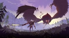 Geralt vs Royal Griffin on Behance