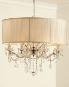 """Shaded """"Cascade"""" Chandelier - eclectic - chandeliers - Horchow  MUCH CLASSIER FOR THE MASTER BATH- IF THAT WOULD WORK"""