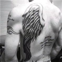 Tattoos Of Wings On Mans Back #tattoosformenonback