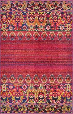 Red Palazzo Area Rug