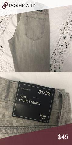 GAP Slim Fit 31x32 NWT GAP Slim Fit Jeans light grey 31x32 NWT GAP Jeans Slim