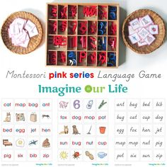 Free Montessori CVC Word Match Printables from Imagine Our Life
