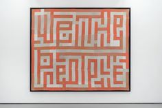 """HANK WILLIS THOMAS, """"We The People,"""" 2015 (quilt made out of decommissioned prison uniforms). 