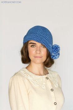 9d63f93de43 1920 s Pompom Cloche Hat Crochet Pattern