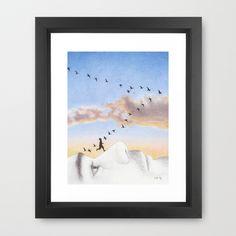 Takeoff by Lars Furtwaengler   Colored Pencil   2014 Framed Art Print by Lars Furtwaengler - $37.00