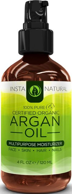 See how easily you can obtain the best looking face, skin, hair and nails.InstaNaturals Pure Certified Organic Argan Oil offers natural remedies from head to toe:- Repairs and beautifies hair - Freshens, softens and hydrates dry skin - Strengthens britt Argan Oil For Hair Loss, Hair Loss Shampoo, Pure Argan Oil, Organic Argan Oil, Organic Shampoo, Natural Shampoo, Normal Hair Loss, Dry Scalp, Dry Skin