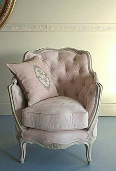 sweetest little pale pink french chair