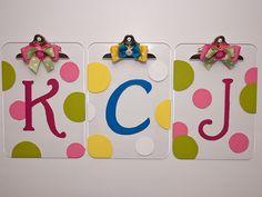 monogrammed clipboards - cute teacher gift