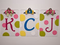 monogrammed clipboards - cute teacher gift