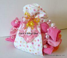 Burp Cloth Stork Bundle  Baby Shower Gift  by MsCarlasBabyCakes, $16.00