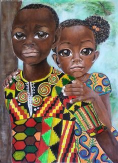 Brother's Keeper African Art by Salkis Re by SalkisReArt on Etsy