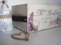 Xanela Vintage: Caja de fresas decorada