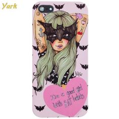 Bat Habits sexy girl custom design hard plastic durable mobile phone bag for iphone 4 4s 5 5s 5c 6 6 plus case cover ,High Quality phone case