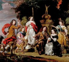 Nicolaes Maes: Family Portrait By Nicolaes Maes