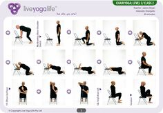 chair yoga poses - Google Search                                                                                                                                                                                 More