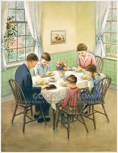 ✿Family Day✿ Family Saying Grace at Breakfast....  Thank you Jesus.
