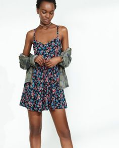 floral print sweetheart neckline cami sundress from EXPRESS