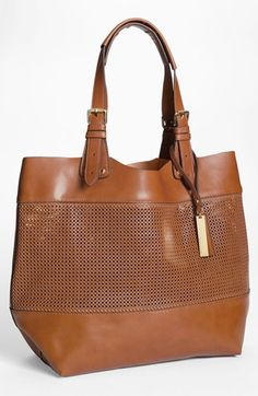 Vince Camuto Perforated Leather Tote available at #Nordstrom