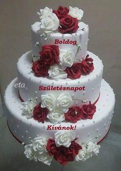 Big Wedding Cakes, Elegant Wedding Cakes, Elegant Cakes, Beautiful Wedding Cakes, Gorgeous Cakes, Wedding Cake Designs, Pretty Cakes, Cute Cakes, Bolo Fack