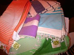 Amazing Foutas (turkish towels) that are lined in super soft terry!! Great beach towels. NYC.