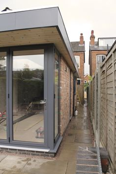 single storey rear and side extension 3 bed semi Kitchen Diner Extension, Bungalow Extensions, House, Garden Room Extensions, Contemporary Front Doors, House Exterior, Corner Window, Flat Roof Extension, Exterior Design