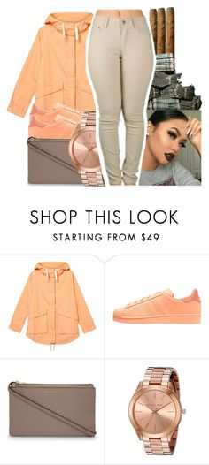 """""""stack ya bread and smoke blunts."""" by glowithbria ❤ liked on Polyvore featuring Monki, adidas Originals, MICHAEL Michael Kors and Michael Kors"""
