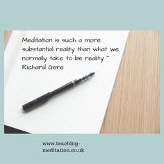 Meditation = Reality Richard Gere, Meditation Quotes, Ideas, Quotes On Meditation, Thoughts