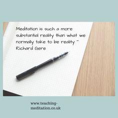 Meditation = Reality